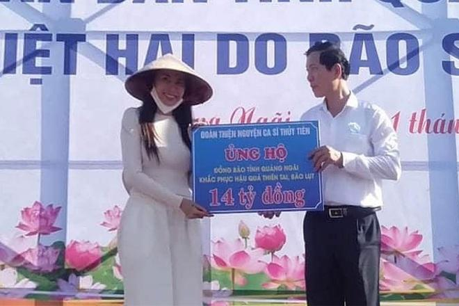 Quảng Ngãi xác nhận ca sĩ Thủy Tiên hỗ trợ người dân 14 tỷ đồng